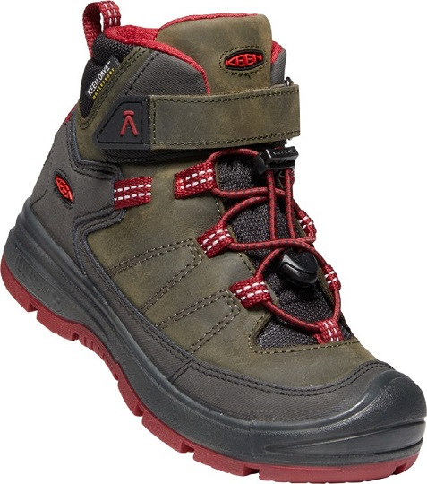 Obuv Keen Redwood Mid WP Kid 1023881 stelgrey/reddahliaEU31/US13/UK12